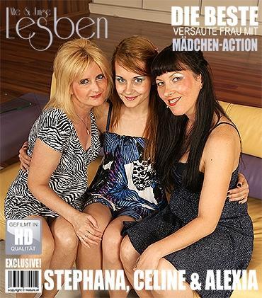 Mature - Alexia M. (20), Celine H. (51), Stephana C. (33) - 3 alte und junge Lesben spielen miteinander