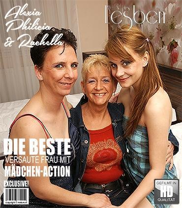 Mature - Alexia M. (20), Philicia (57), Rachella (36) - 3 alte und junge Lesben spielen miteinander