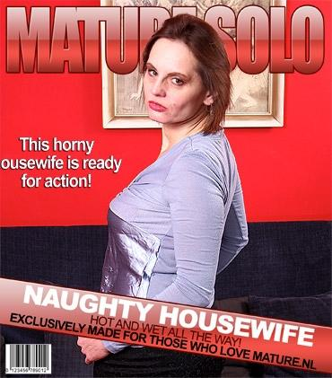 Mature - Magda O. (45) - Hairy housewife playing with her pussy