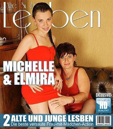 Mature - Elmira V. (50), Michelle B. (24) - Heißes Babe hat Spaß mit einer frechen reifen Lesbe