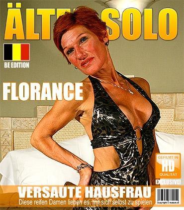 Mature - Florance (51) - Belgische Reifer Amateur Dame spielt mit sich selbst