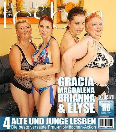 Mature - Brianna (19), Elyse (26), Gracia (42), Magdalena K. (62) - Alte und junge Lesben haben großen Spaß miteinander