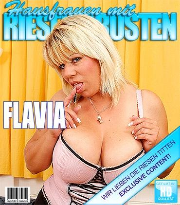 Mature - Flavia (36) - Hot big breasted housewife playing alone