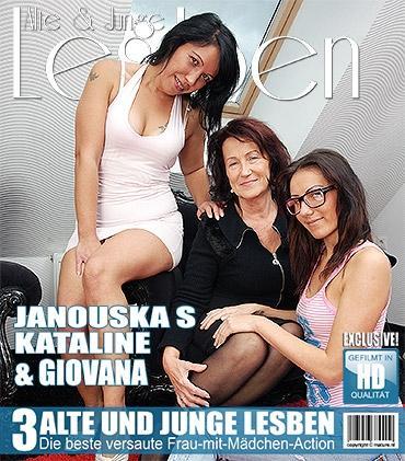 Mature - Giovana (35), Janouska S. (22), Kataline (67) - 3 alte und junge Lesben spielen miteinander
