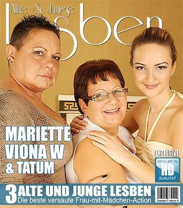 Mature - Mariette (57), Tatum (21), Viona W. (44) - Halte deine Augen für diese alten und jungen Lesben offen, die es lieben, ihre Muschis zu schmecken!