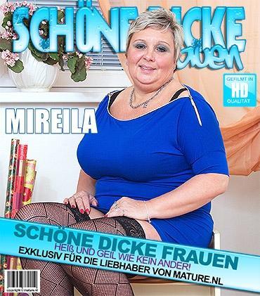 Mature - Mireila (50) - Vollbusige BBW spielt mit sich selbst