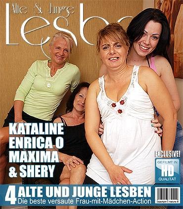 Mature - Enrica O. (37), Kataline (67), Maxima (22), Shery (47) - Alte und junge Lesben haben großen Spaß miteinander