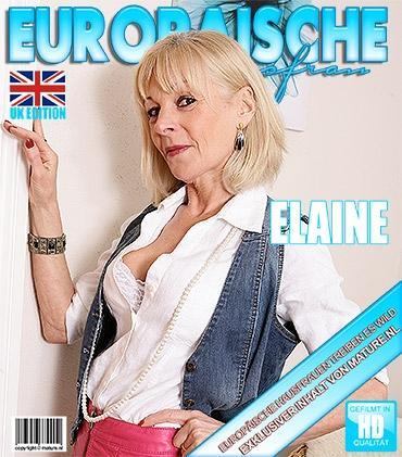 Mature - Elaine (EU) (57) - Britische Reife Dame fummelt herum