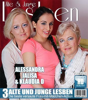 Mature - Alessandra (23), Jalisa (42), Klaudia D. (57) - 3 alte und junge Lesben spielen miteinander