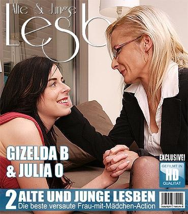 Mature - Gizelda B. (41), Julia O. (21) - Heißes Babe hat Sex mit einer schmutzigen alten Lesbe