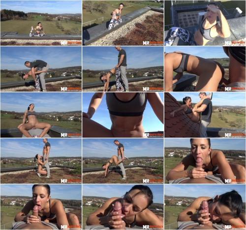 Black Sophie Yoga-Challenge On The Rooftop German [FullHD 1080P]