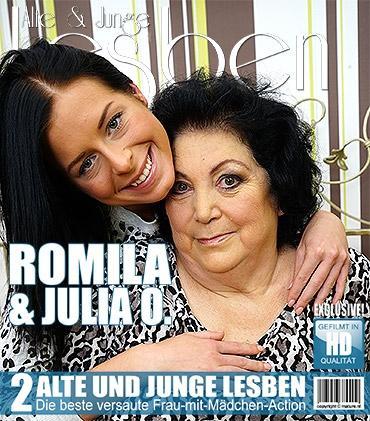 Mature — Julia O. (21), Romila (64) — Heißes Babe verführt eine freche reife BBW Lesbe
