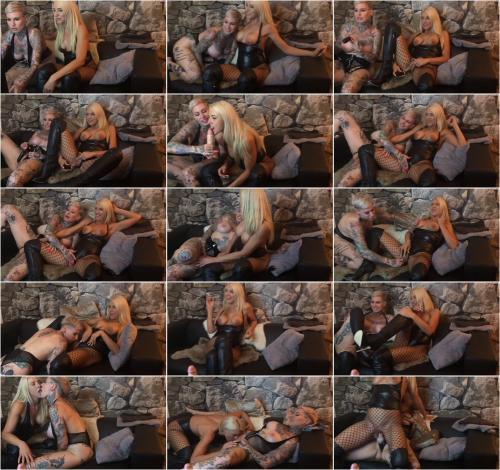 Daynia - Best of Lesben Camshow Das 1. Mal mit Strapon gefickt Cat Coxx und Daynia [FullHD 1080P]