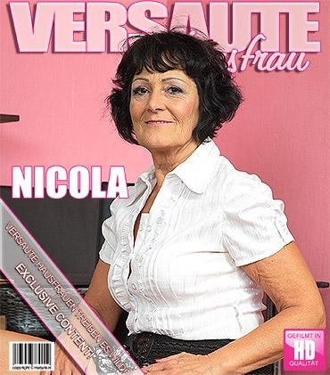 Mature - Nicola E. (59) - Frische Ältere Dame fingert sich selbst  Mature.nl