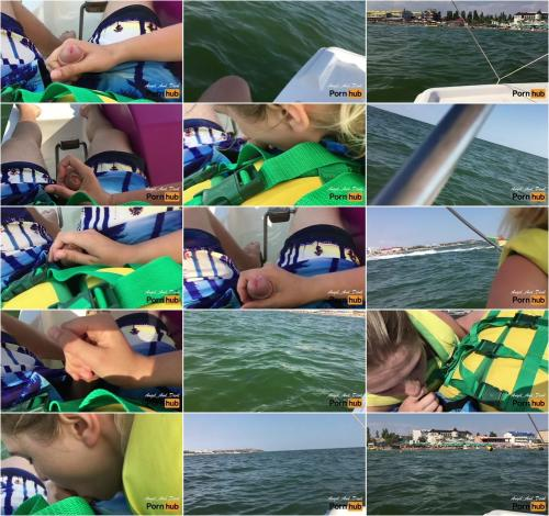 Angel And Devil - CRAZY PUBLIC BLOWJOB on Pedal Boat near Crowded Beach [FullHD 1080P]
