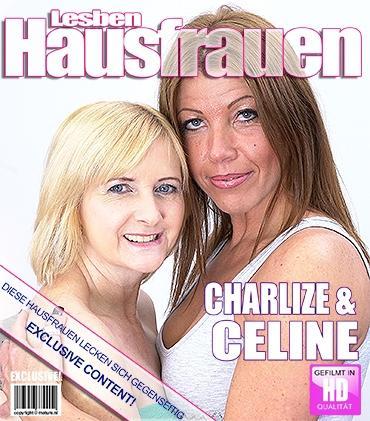 Mature - Celine H. (53), Charlize (36) - 2 reife Lesben teilen ihre Muschis