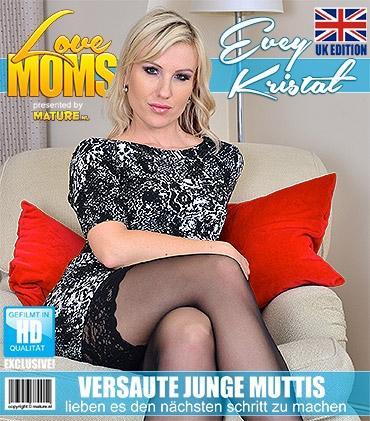 Mature - Evey Kristal (33) - Britische Geile mama fingert sich selbst
