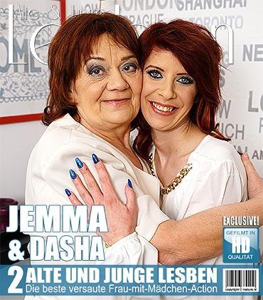 Mature - Dasha (68), Jemma K. (29) - Lesbische junge und alte Damen fummelt herum