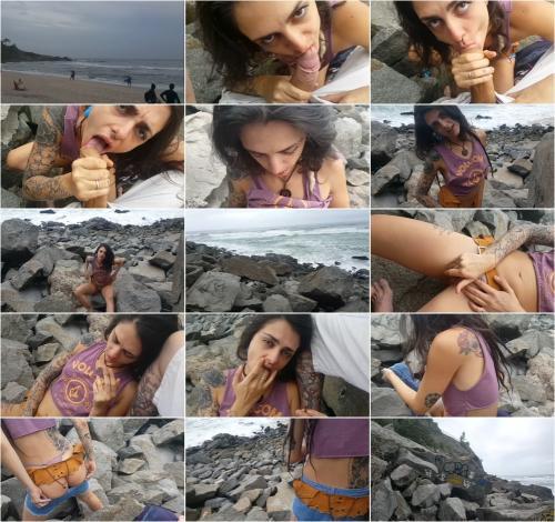 Dread Hot - Hot Teen Public Blowjob Cum Eating at Beach? [FullHD 1080P]