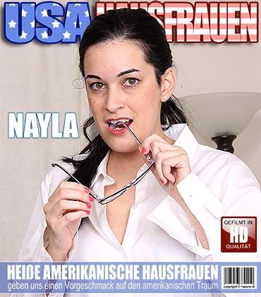 Mature - Nayla (35) - Amerikanisch Hausfrau fummelt herum