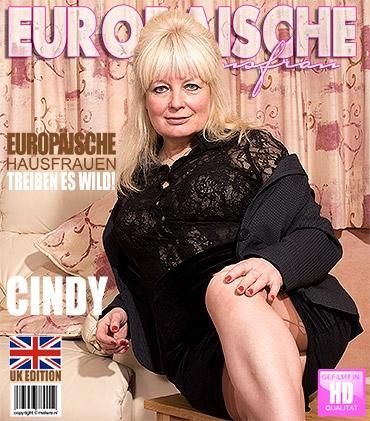 Mature - Cindy S. (EU) (58) - Britische Hausfrau fummelt herum