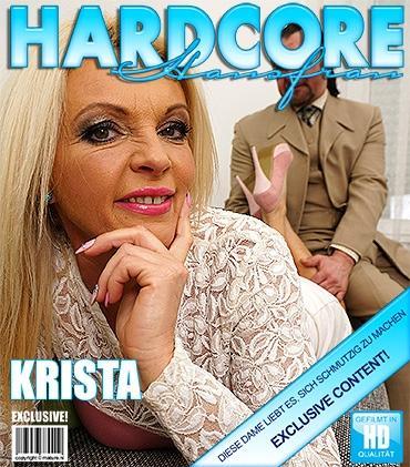 Mature - Krista E. (44) - Heiße Hausfrau fickt und saugt