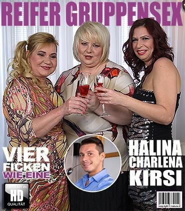 Mature - Charlena (41), Halina K. (42), Kirsi (54) - Vier ficken wie eine