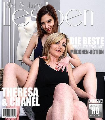 Mature - Chanel (22), Theresa B. (42) - Alte und junge Lesben haben großen Spaß miteinander
